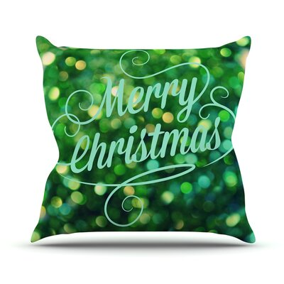 Merry Christmas Throw Pillow Size: 18 H x 18 W