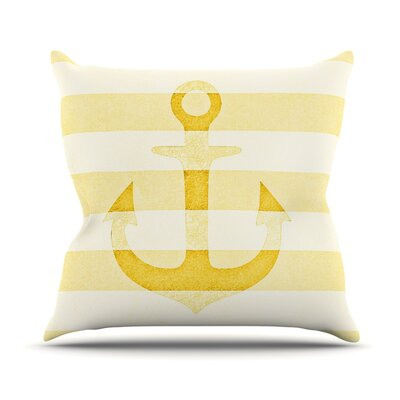 Stone Vintage Anchor Throw Pillow Size: 16 H x 16 W, Color: Yellow