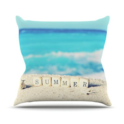 Summer at the Beach Throw Pillow Size: 20 H x 20 W