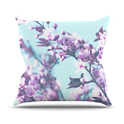 Cherry Phantasy Throw Pillow Size: 18 H x 18 W