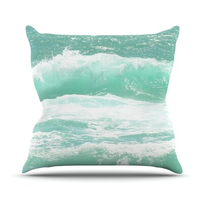Maui Waves Throw Pillow Size: 18 H x 18 W