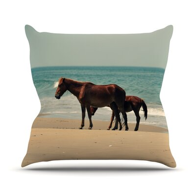 Sandy Toes Throw Pillow Size: 18 H x 18 W