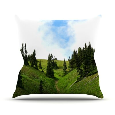 Going to the Mountains Throw Pillow Size: 16 H x 16 W