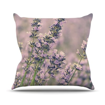 Smell the Flowers Throw Pillow Size: 26 H x 26 W