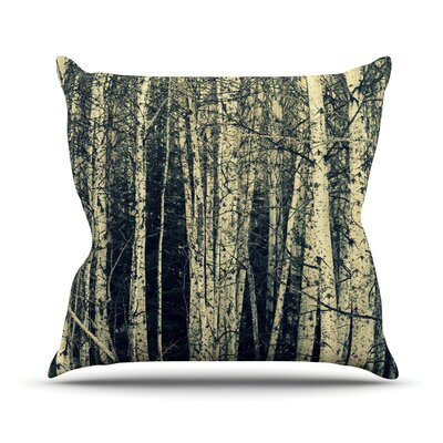 Birch Throw Pillow Size: 18 H x 18 W
