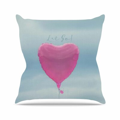 Let Go! Throw Pillow Size: 26 H x 26 W