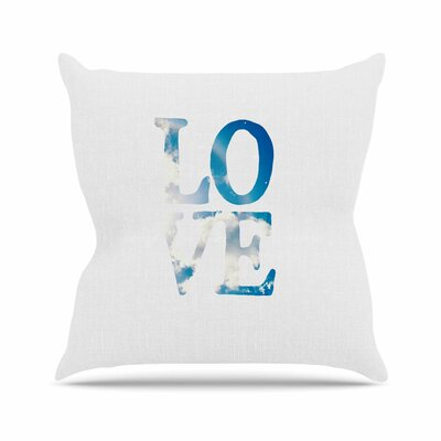 Love Throw Pillow Size: 16