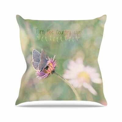 Turn The Country Up Throw Pillow Size: 26 H x 26 W