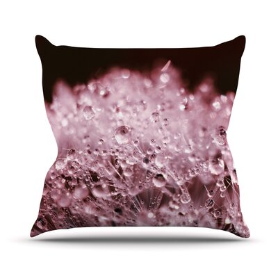 Marsala Dandelion Diamonds Throw Pillow Size: 16 H x 16 W