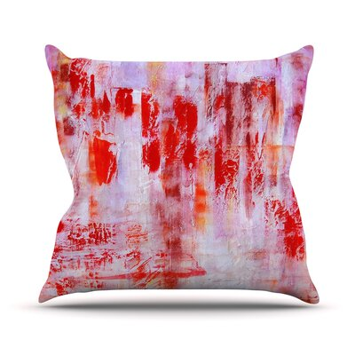 Painted Cityscape Throw Pillow Size: 16 H x 16 W