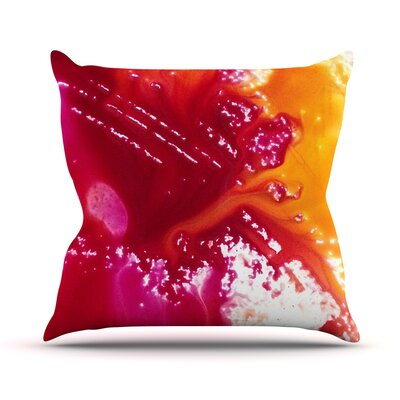 Color River Throw Pillow Size: 18 H x 18 W