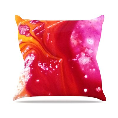 Color River III Throw Pillow Size: 18 H x 18 W