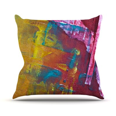 Cityscape Abstracts III Throw Pillow Size: 18 H x 18 W