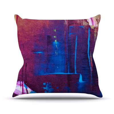 Cityscape Abstracts Throw Pillow Size: 18 H x 18 W
