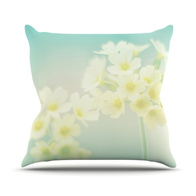 Happy Spring Throw Pillow Size: 18 H x 18 W