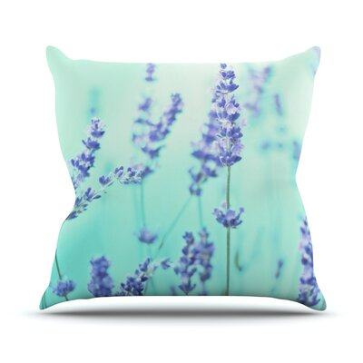 Mint Lavender Throw Pillow Size: 18 H x 18 W