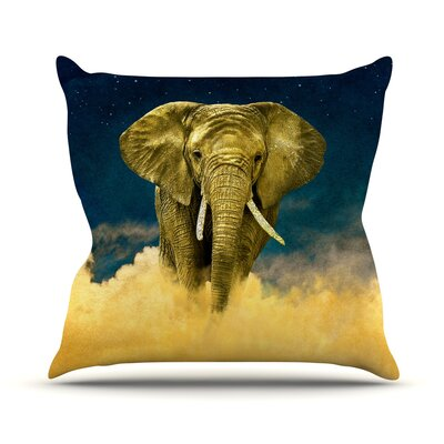 Celestial Elephant Throw Pillow Size: 18 H x 18 W