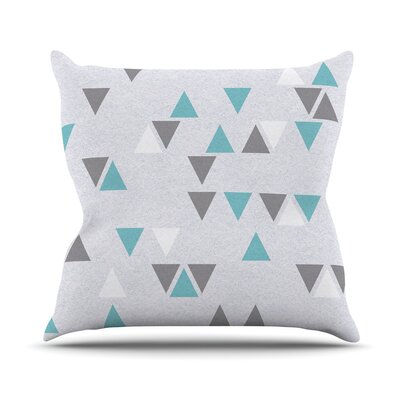 Triangle Love II Throw Pillow Size: 18 H x 18 W