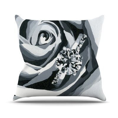 Happy Engagement Throw Pillow Size: 16 H x 16 W, Color: Grey
