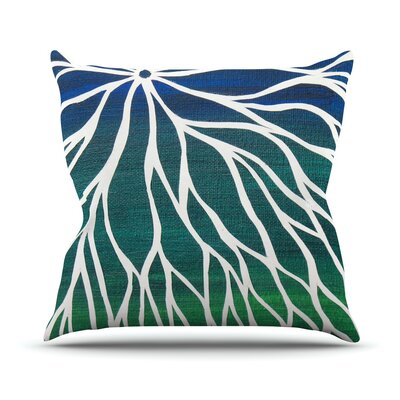 Ocean Flower Throw Pillow Size: 16 H x 16 W