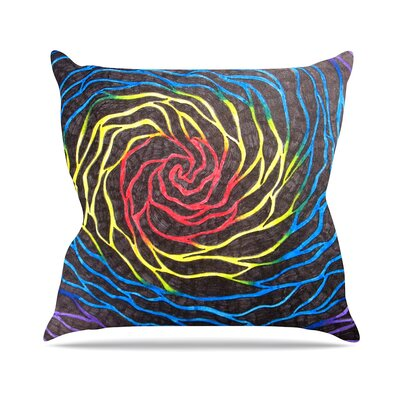 Rainbow Vortex Throw Pillow Size: 26 H x 26 W