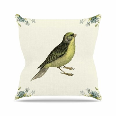 Vintage Bird 2 Throw Pillow Size: 16 H x 16 W