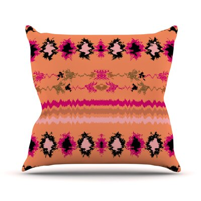 Nava Throw Pillow Color: Peachy, Size: 18'' H x 18'' W