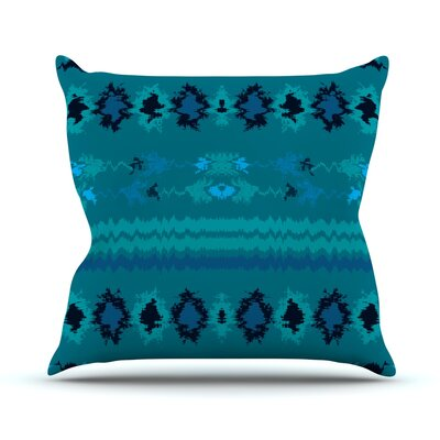 Nava Throw Pillow Size: 26 H x 26 W, Color: Turquoise