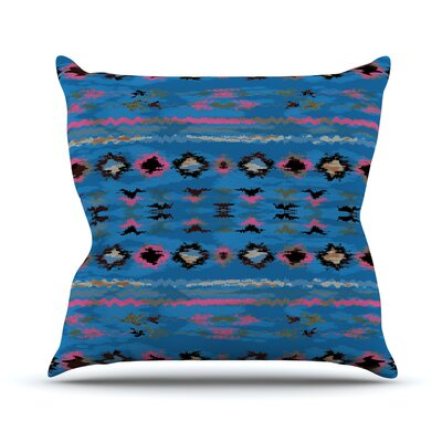 Navano Throw Pillow Size: 16 H x 16 W, Color: Blue