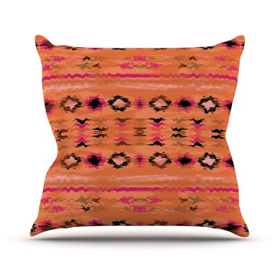 Navano Throw Pillow Size: 26 H x 26 W, Color: Orange