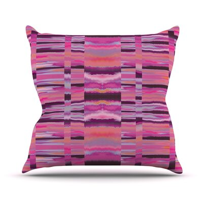 Samanna Throw Pillow Size: 16 H x 16 W, Color: Coral