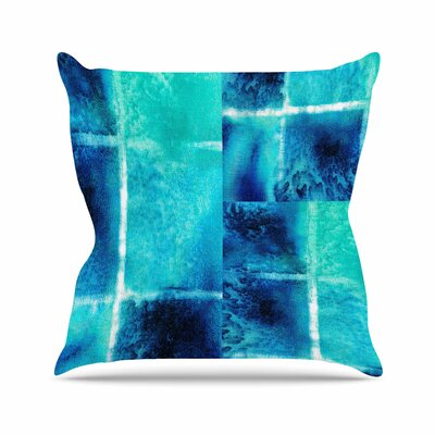 Saltwater Study Throw Pillow Size: 16 H x 16 W