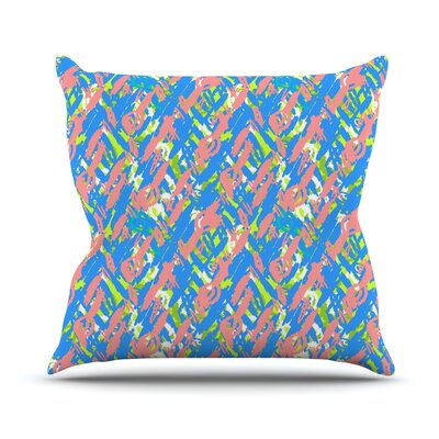 Abstract Print Throw Pillow Color: Blue, Size: 18 H x 18 W