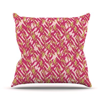 Abstract Print Throw Pillow Size: 26 H x 26 W, Color: Pink