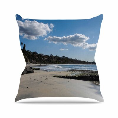 Clouds Over Swamis Beach Throw Pillow Size: 16 H x 16 W