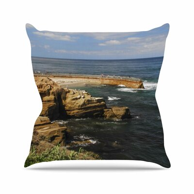 Ocean Jetty Throw Pillow Size: 16'' H x 16'' W
