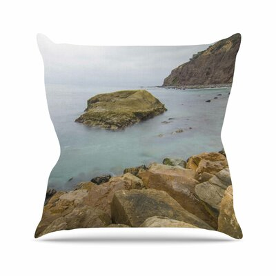 Rock Above Water Throw Pillow Size: 18 H x 18 W