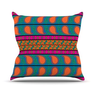Bohemian V Throw Pillow Size: 16 H x 16 W