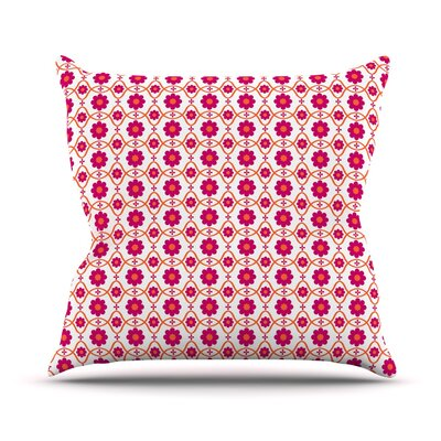 Floral Throw Pillow Color: Pink, Size: 26 H x 26 W
