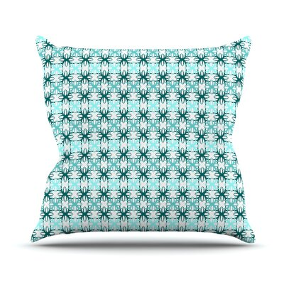 Motifs Throw Pillow Size: 26 H x 26 W, Color: Blue