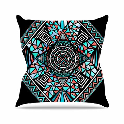 Peacock Feathers Throw Pillow Size: 18 H x 18 W