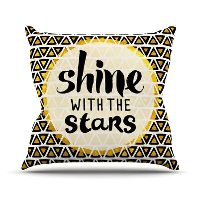 Shine with the Stars Throw Pillow Size: 16 H x 16 W