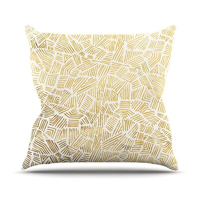 Inca Gold Trail Throw Pillow Size: 18 H x 18 W