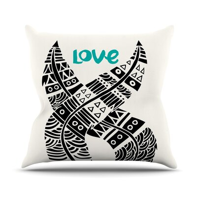United Love Throw Pillow Size: 18 H x 18 W