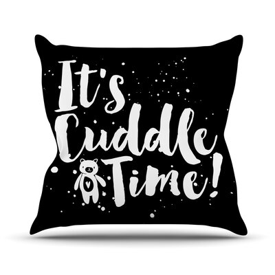 Cuddle Time Throw Pillow Size: 18 H x 18 W