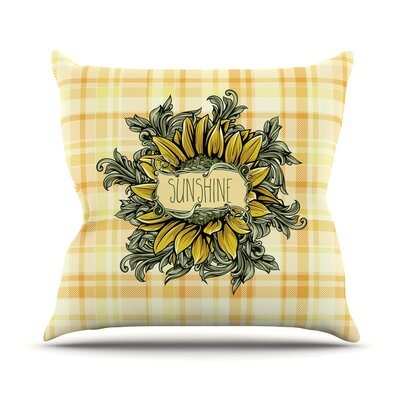 Sunflower Sunshine Throw Pillow Size: 18 H x 18 W