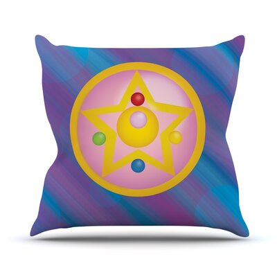 Moon Throw Pillow Size: 18 H x 18 W