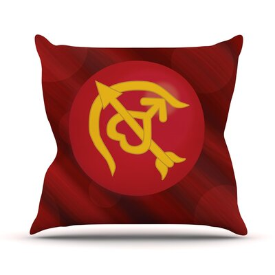 Mars Throw Pillow Size: 26 H x 26 W