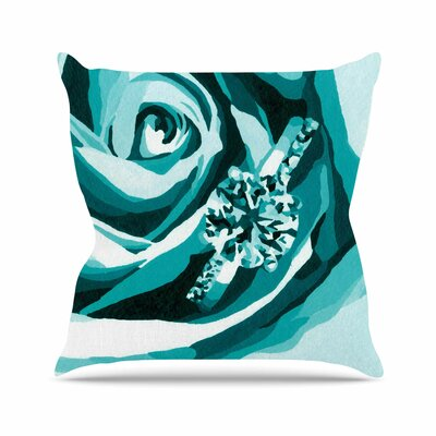 Happy Engagement Throw Pillow Color: Tiffany, Size: 18 H x 18 W