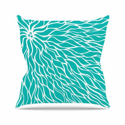 Swirls Throw Pillow Size: 18 H x 18 W, Color: Tiffany